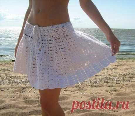 Нежная пляжная юбочка крючком из категории Интересные идеи – Вязаные идеи, идеи для вязания