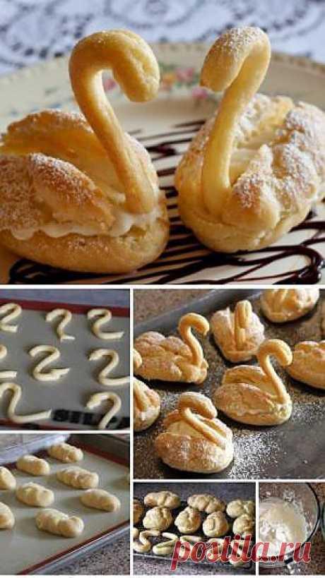 Пирожные лебеди рецепт с фото - рецепты с фото