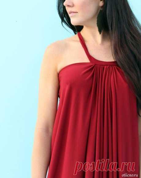 Пляжное платье в греческом стиле буквально за час