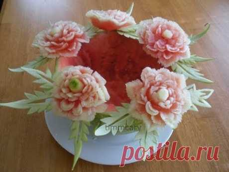 FLOWERS FROM THE WATER-MELON!!!
