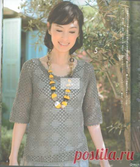 Вязание квадратов вязание решетки алмаза дамы круглый шеи пуловер-вязание спицами-урок вязания жизни