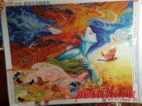 """Вот и готова картина в алмазной мозаике """"Фея лета худ. Жозефина Уолл"""" Картина получалась очень красивая, яркая, обьемная! Спасибо, что присылаете фото готовых работ!  Приобрести набор можно по ссылке  https://sova-rukodelnica.com.ua/products/feya-leta-hud.."""