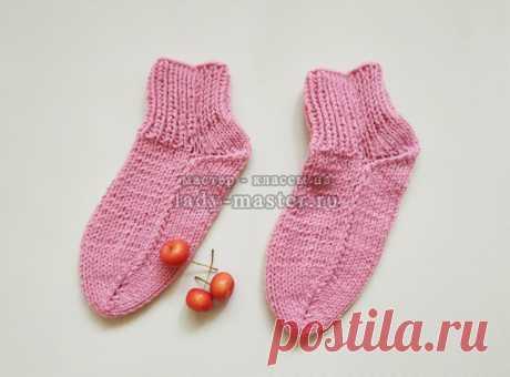 Вязание носков на 2 спицах - простой мастер-класс с фото