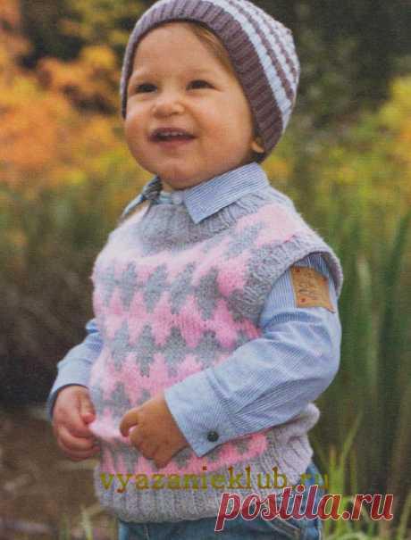 Безрукавка для малышей - Для детей до 3 лет - Каталог файлов - Вязание для детей