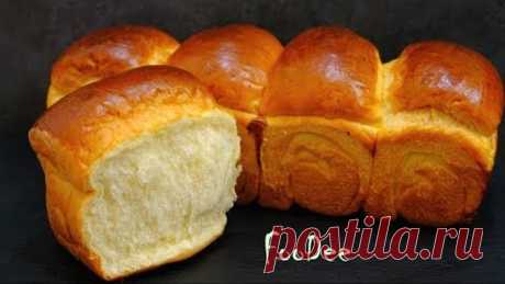 Хлеб на хлебной ЗАВАРКЕ долго не черствеет и не крошится! Японский молочный хлеб как ПУХ Milk bread