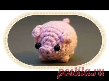 Вязаная свинка амигуруми. Crochet amigurumi pig.