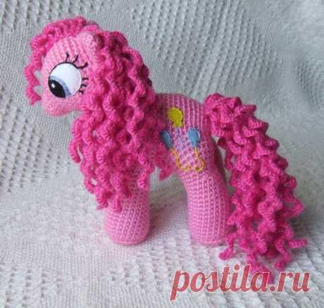 Вяжем розовую пони - мягкую игрушку! из категории Интересные идеи – Вязаные идеи, идеи для вязания