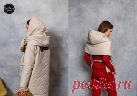 Стеганый шарф - трансформер к пуховику (DIY) Модная одежда и дизайн интерьера своими руками
