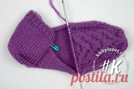 The planet of Knitting | Socklets on two spokes without seam. A step-by-step master class with video.