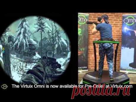 Call of Duty на беговой дорожке виртуальной реальности Virtuix Omni – игры и фитнес одновременно