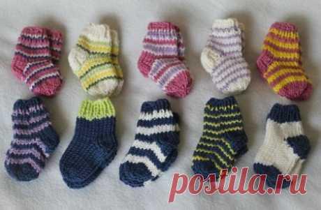 Носочки спицами для новорожденных. Советы и рекомендации