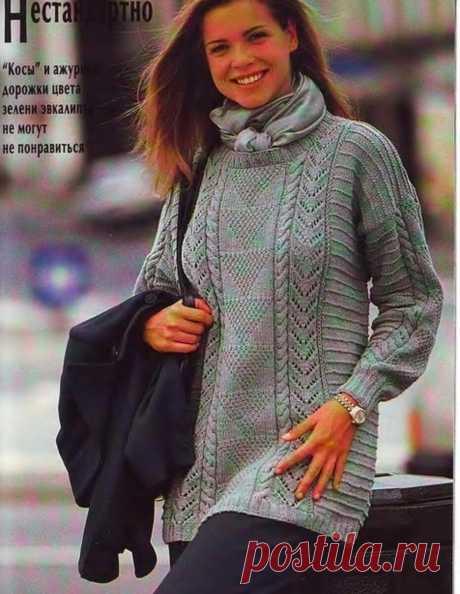 Элегантные джемперы вязаные спицами.   Asha. Вязание и дизайн.🌶   Яндекс Дзен