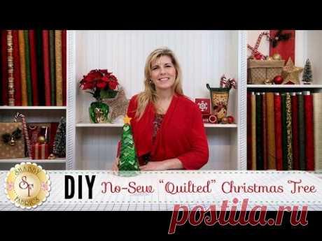 Новогодняя елочка из ткани - пэчворк без шитья | Поделки | Пэчворк • Квилтинг • Лоскутное шитье | Пэчворк • идеи