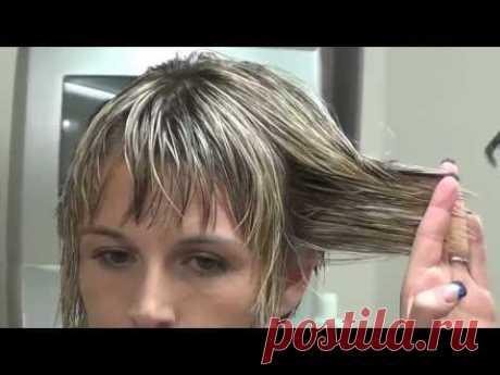Быстрая стрижка коротких волос