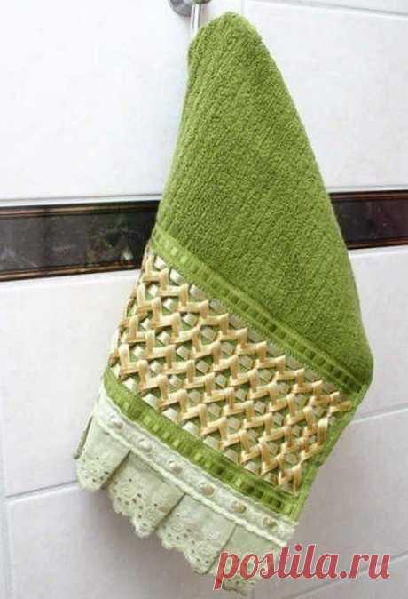Украшение кухонного полотенца: мастер-класс