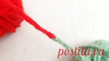 Как связать две нити без узла (Уроки и МК по ВЯЗАНИЮ) – Журнал Вдохновение Рукодельницы