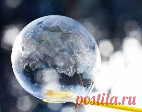Замерзшие мыльные пузыри — Поделки с детьми
