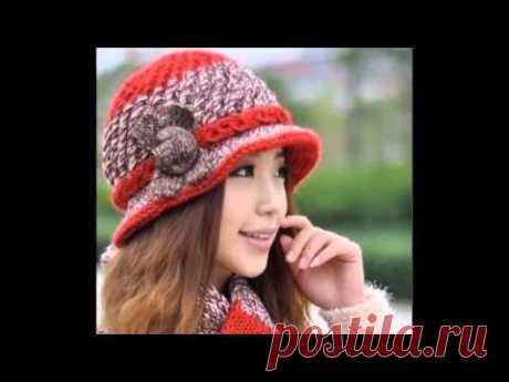 Los sombreros de señora elegantes tejidos femeninos y las panameñas