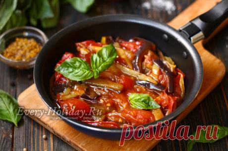 Тушёные баклажаны с помидорами, перцем и чесноком в соусе Терияки - рецепт с фото пошагово