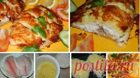Рыбка в «шубе» - Вкусные рецепты - медиаплатформа МирТесен Рыбка в хрустящей картофельной корочке вполне может стать одним из наиболее любимых блюд в вашей семье. Ингредиенты: филе рыбы — 6 шт.; картофель — 7-8 шт.; сыр — 70 г; яичный белок — 2 шт.; мука — 4-6 ст. л.; соль, перец, специи; масло для жарки. Приготовление: Рыбу помыть и обсушить. В одной чаше