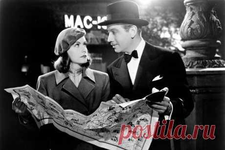"""Greta Garbo & Melvyn Douglas """"Ninotchka"""" 1939"""