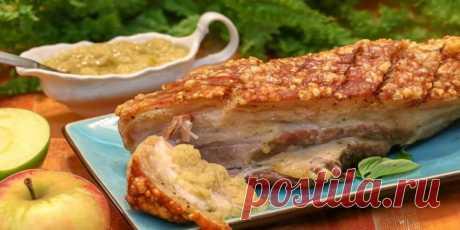 (+4) Свиная грудинка с соусом из хрена и яблок : Мясные блюда : Кулинария : Subscribe.Ru