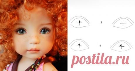 Техника 'Живого взгляда' от Dianna Effner Очень часто так случается, что смотришь на куклу, а она тебя не видит, смотрит как бы сквозь, взгляд ее направлен куда-то в пустое пространство, в далекую в бесконечность. Слишком симметрично нарисованные глаза дают ощущение параллельного отсутствующего взгляда. Мой любимый автор, прекрасный мастер коллекционных кукол Дианна Эффнер (Dianna Effner) щедро делится своим секретом, как сделать взгляд куклы более тёплым и живым.