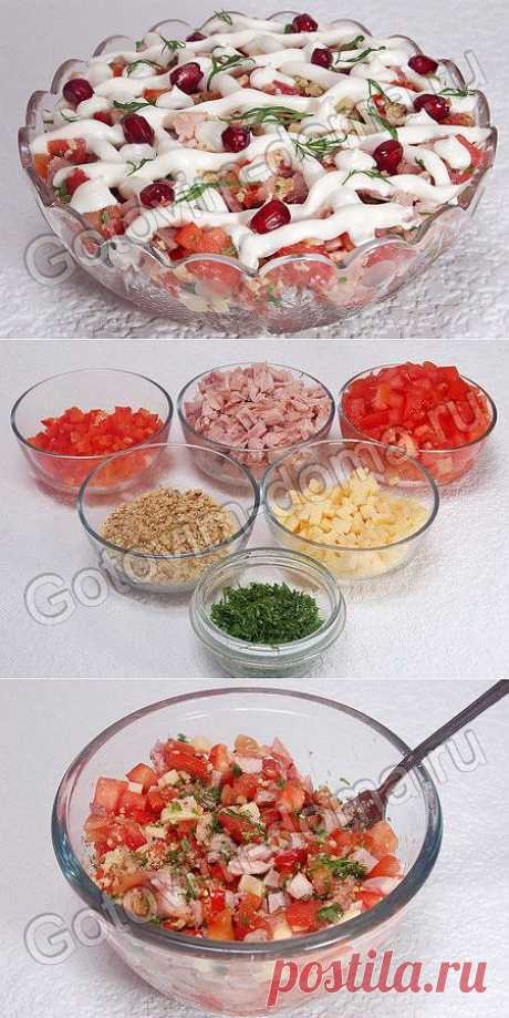 """Рецепт: Салат с копченой курицей """"Зимний вечер"""""""