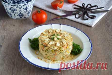 Салат с белыми грибами и курицей рецепт с фото пошагово и видео - 1000.menu