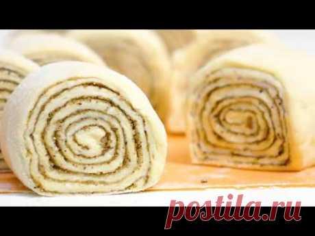 Улитки из слоеного теста с корицей ★ Слоеные булочки с сахаром и корицей