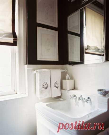 Куда в ванной повесить полотенца: примеры на фото