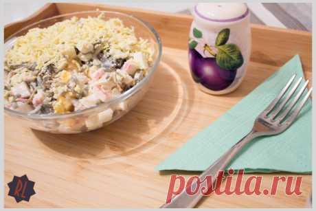 Салат из морской капусты с крабовыми палочками и яйцом   Блоги о даче и огороде, рецептах, красоте и правильном питании, рыбалке, ремонте и интерьере