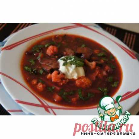 Грибной суп с черносливом – кулинарный рецепт