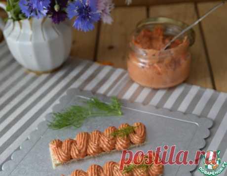 Паштет сырно-творожный с запечённым перцем – кулинарный рецепт