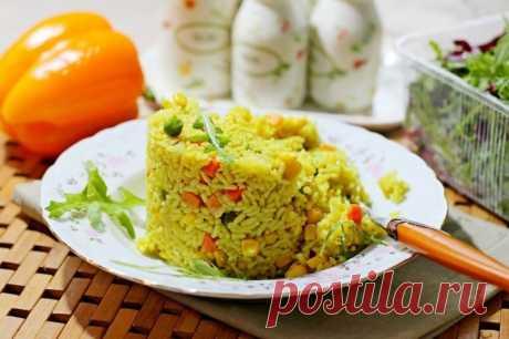 Рис с овощами и карри — Sloosh – кулинарные рецепты
