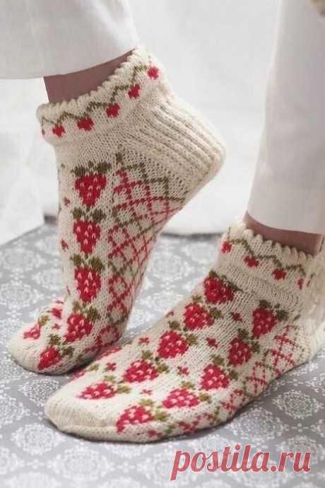 Красивые носочки жаккардом