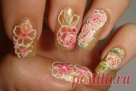 Дизайн ногтей с 3D-слайдерами - LadyCandy.ru