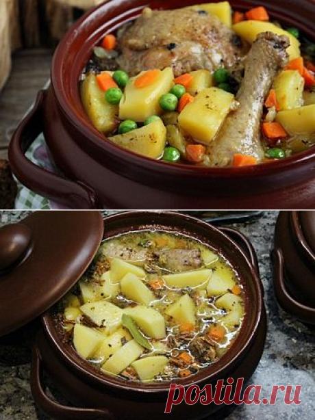 Курица в горшочке с овощами - рецепт с пошаговыми фото / Меню недели