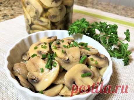Быстрые МАРИНОВАННЫЕ ГРИБЫ за 2 часа. Шикарное Блюдо для Постного Стола. Marinated mushrooms