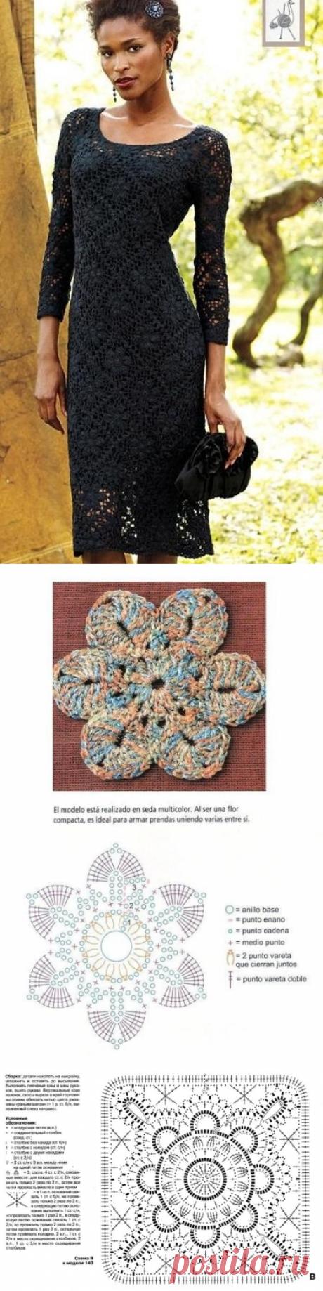 Платья крючком со схемами. Вечернее платье крючком | Лаборатория домашнего хозяйства