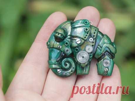 Мастер-класс : Лепим слона из полимерной глины в стилистике биомеханики | Журнал Ярмарки Мастеров