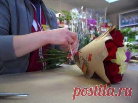 Как оформить букет в крафт -бумагу