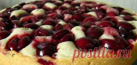 Быстрый вишневый пирог - Вкусно готовим дома