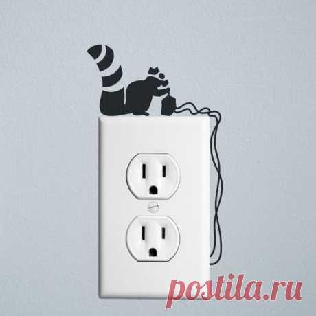 Милое оформление выключателей и розеток