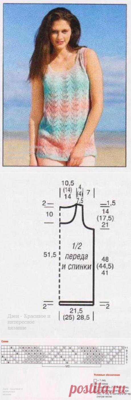 Летние майки связанные спицами со схемами | Красивое и интересное вязание | Яндекс Дзен