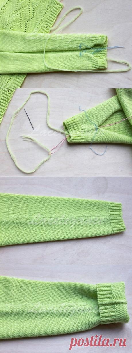 Делаем идеальный шов без узлов и необходимости прятать концы