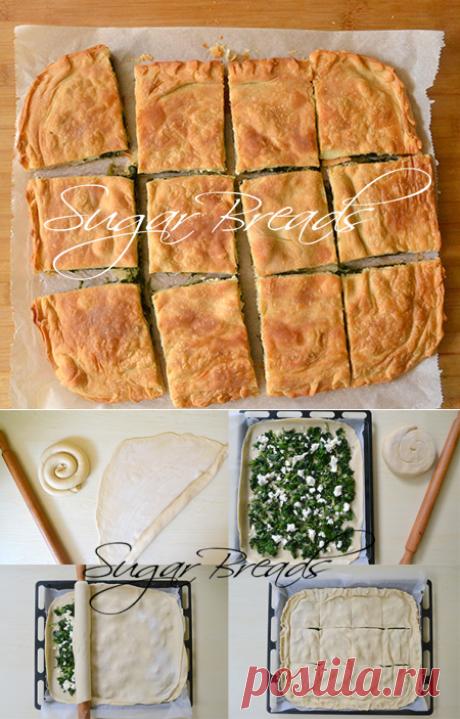 Турецкий пирог с сыром и шпинатом | Sugar & Breads in Russia