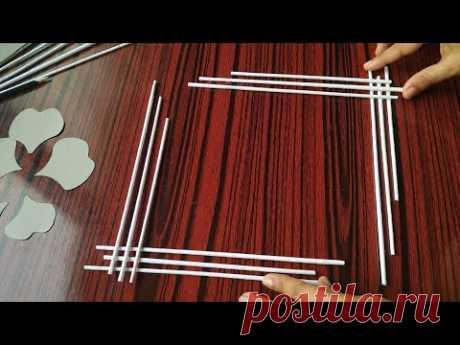 Paper Craft-Easy Wall Decoration Ideas-Paper flower wallhanging #papercraft#walldecorideas#DIY#