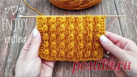 КЛАССНЫЙ Узор ШИШЕЧКИ спицами | Popcorn stitch knitting tuturial