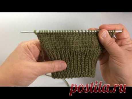 Крупная двусторонняя резинка / Вязание спицами - YouTube